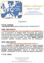 """Samedi 17 janvier 2009 """"Journée EUROPE des radicaux de gauche dans le 2e"""""""