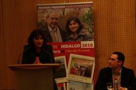 Meeting Anne Hidalgo 10 février 2010 en présence de Bertrand Delanoe